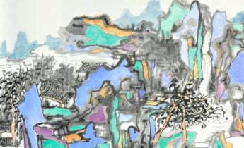 Aside wu ke  another shan shui series  2017  ink on paper  69.5 x 69.5cm