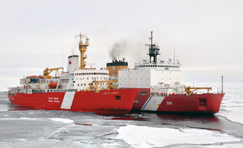 Aside icebreakers ccgs louis s. st laurent and uscgc healy on a joint exercise in the arctic  a 1440x957