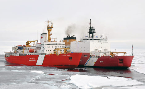 Sidebar icebreakers ccgs louis s. st laurent and uscgc healy on a joint exercise in the arctic  a 1440x957