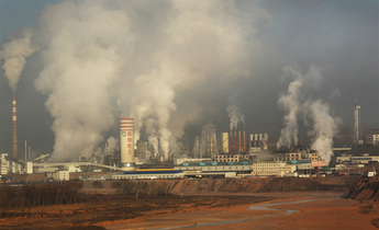 Index the release of smoke and steam from the orville qianyuan chemical plant fills the sky. meitu 3