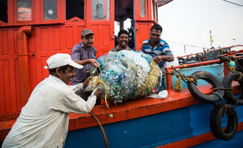 Index the crew of holy star with litter recovered from their nets 1440x961