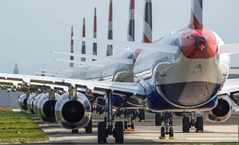 Aside planes grounded in glasgow as airlines seek coronavirus bailouts
