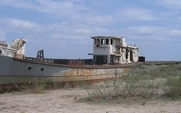 Aside aral sea boat large