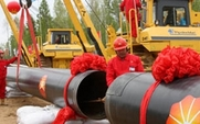 Aside china russia oil pipe large