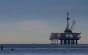 Aside oil platform