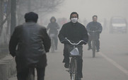Aside air pollution linfen bicycle