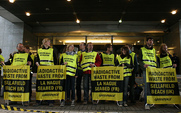 Aside nuclear waste protest