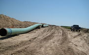 Aside pipes for keystone pipeline