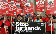 Aside tar sands protest pic