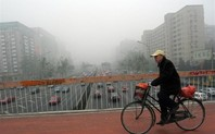 Index air pollution bicycle bridge
