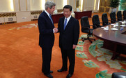 Aside 480 john kerry is greeted by chinese president xi jinping