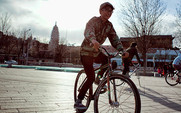Aside fixed gear bike