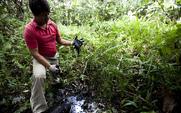 Aside oil spill