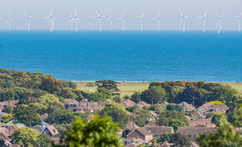 Index tx38nm offshore wind farm turbines in the sea off south coast of england