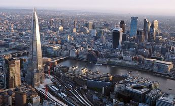 Index london from a hot air balloon