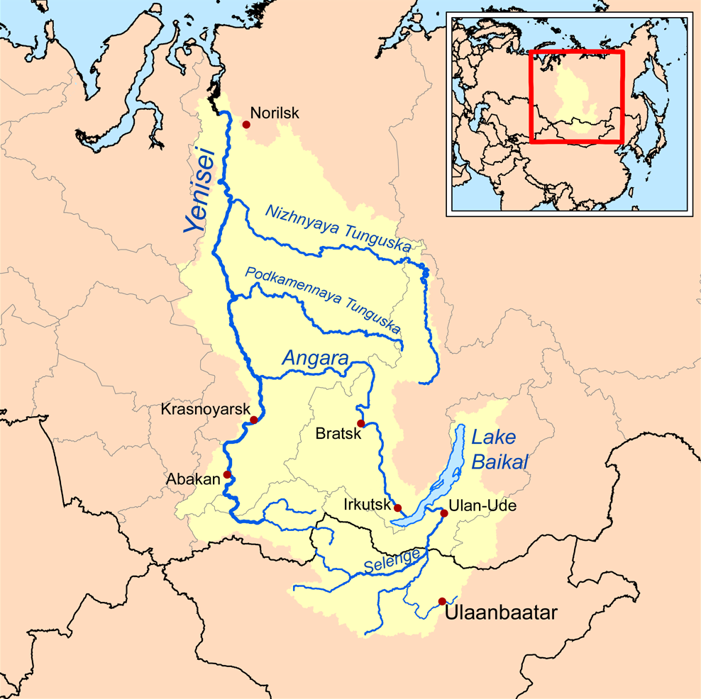 Selenga drains much of northern Mongolia into Lake Baikal.