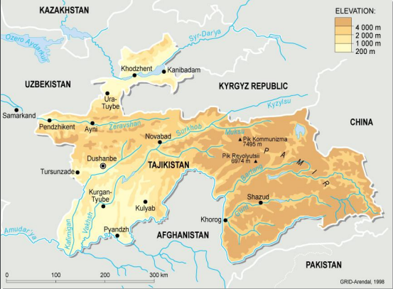 China Shifts Polluting Cement To Tajikistan The Third Pole - Middle east map dushanbe