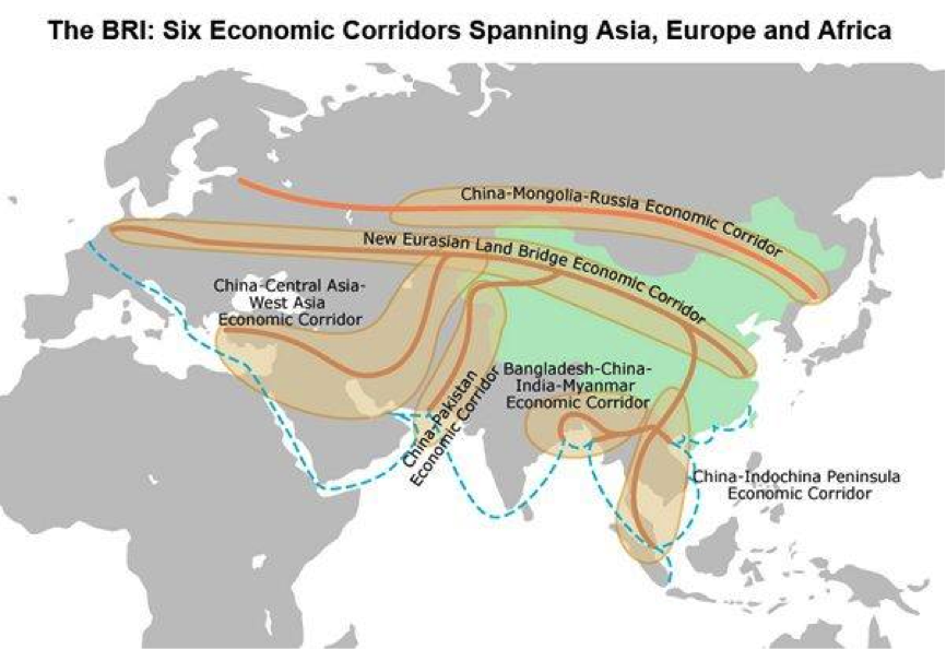 Picture: The BRI: Six Economic Corridors Spanning Asia, Europe and Africa