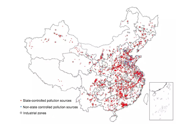 Map Produced By Filtering Of Pollution Source Data Source Ipe