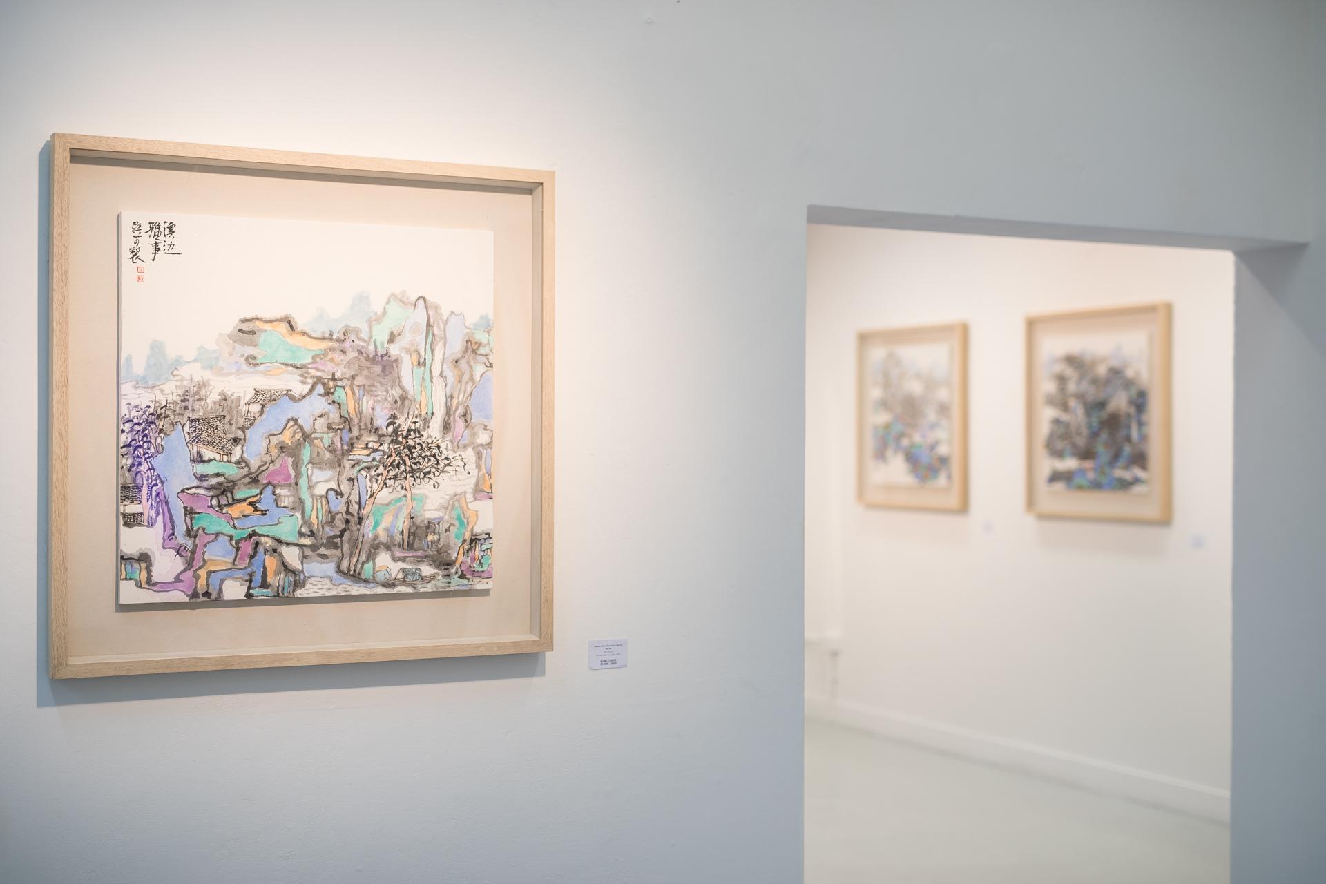 '别样山水'首次走出国门来到泰晤士河畔的画廊展出