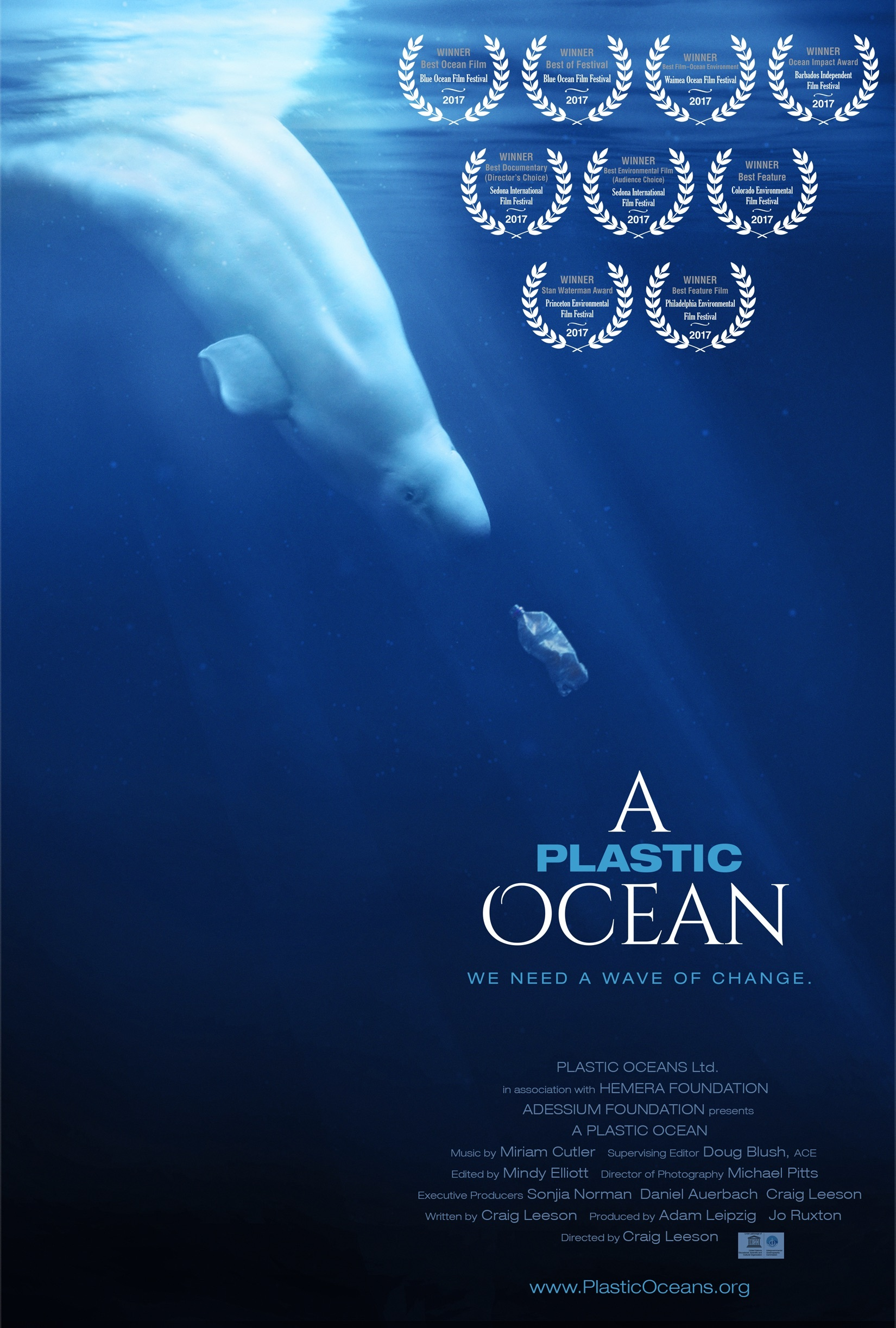 Official poster for A Plastic Ocean documentary film
