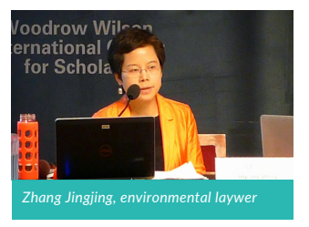 Chinese environmental lawyer Zhang Jingjing