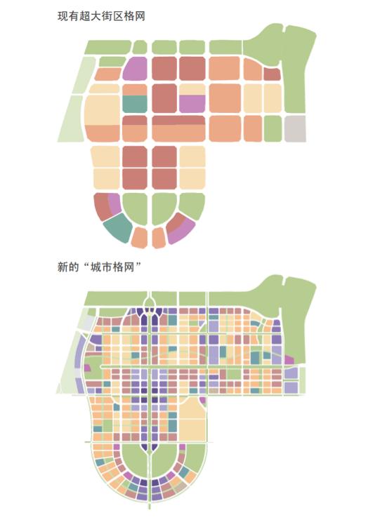 呈贡新区新旧规划土地利用对比