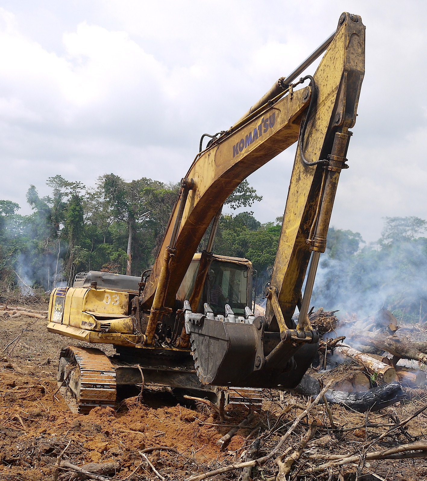 A Chinese-funded road-building project in the Congo Basin