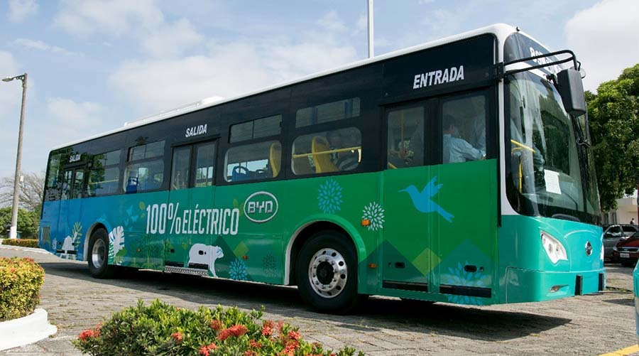 BYD will unveil 20 electric buses in Guayaquil this year.
