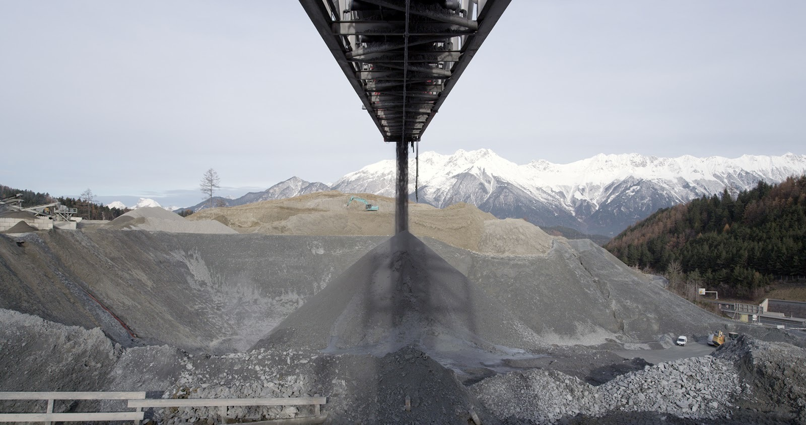 Tunnel mining in Brenner, Austria from the documentary film Earth