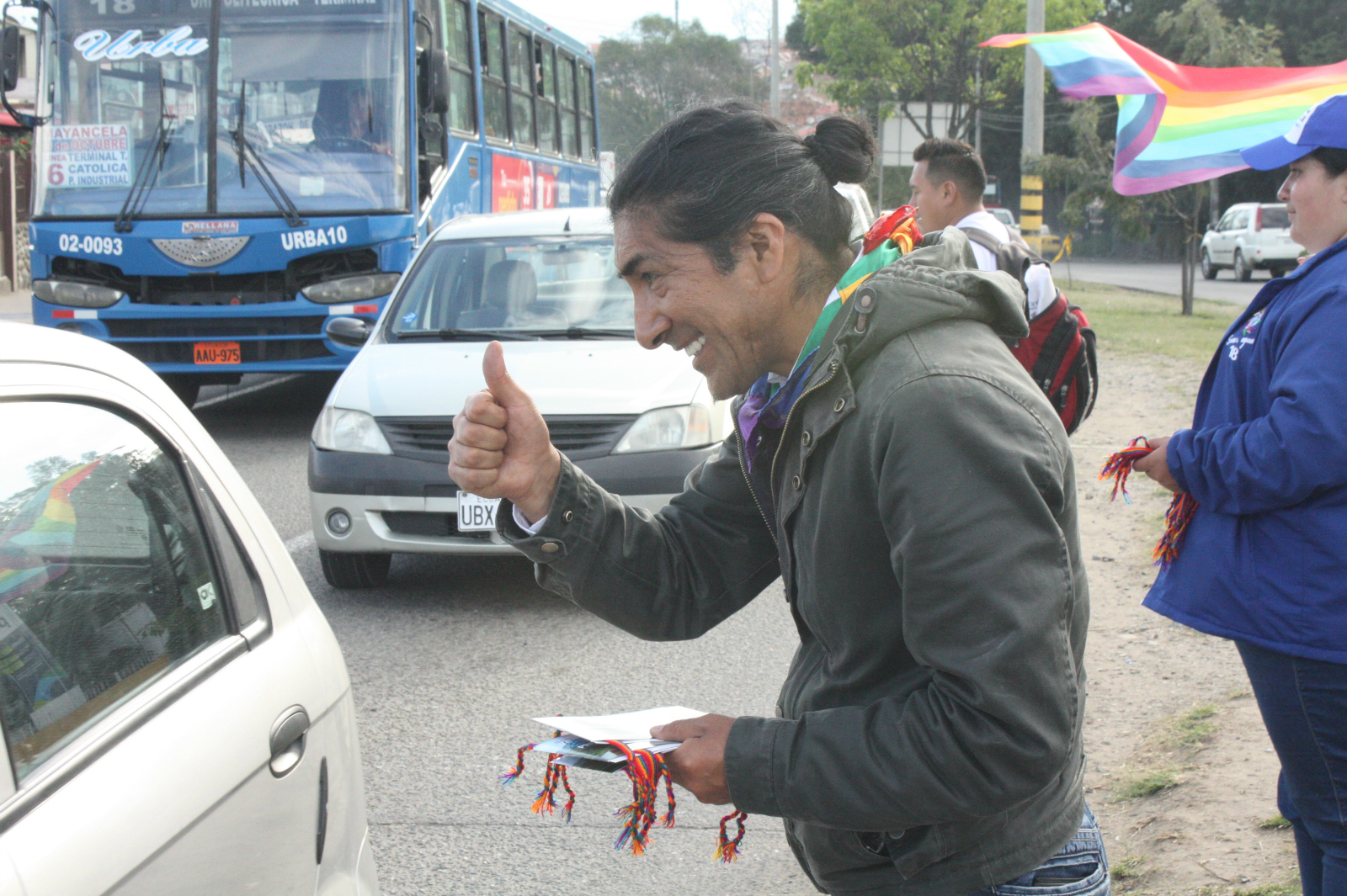 Yaku Sacha on the campaign trail (Image: Andrés Bermúdez Liévano)