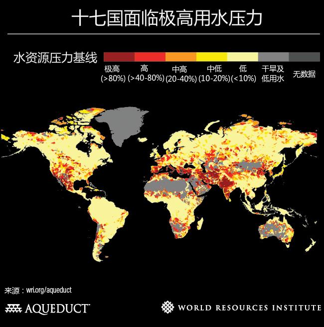 十七国面临极高用水压力