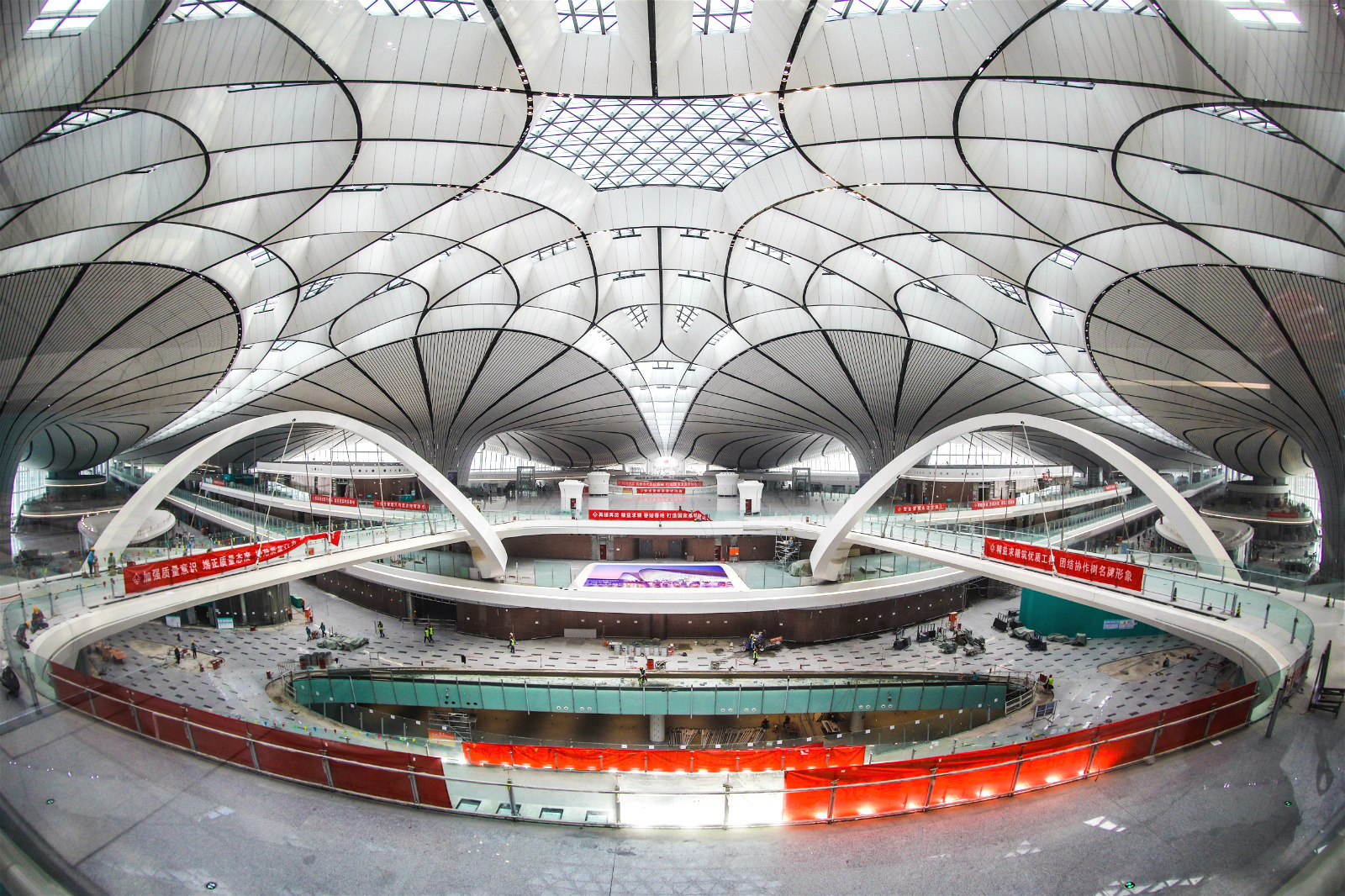 Beijing Daxing airport during construction