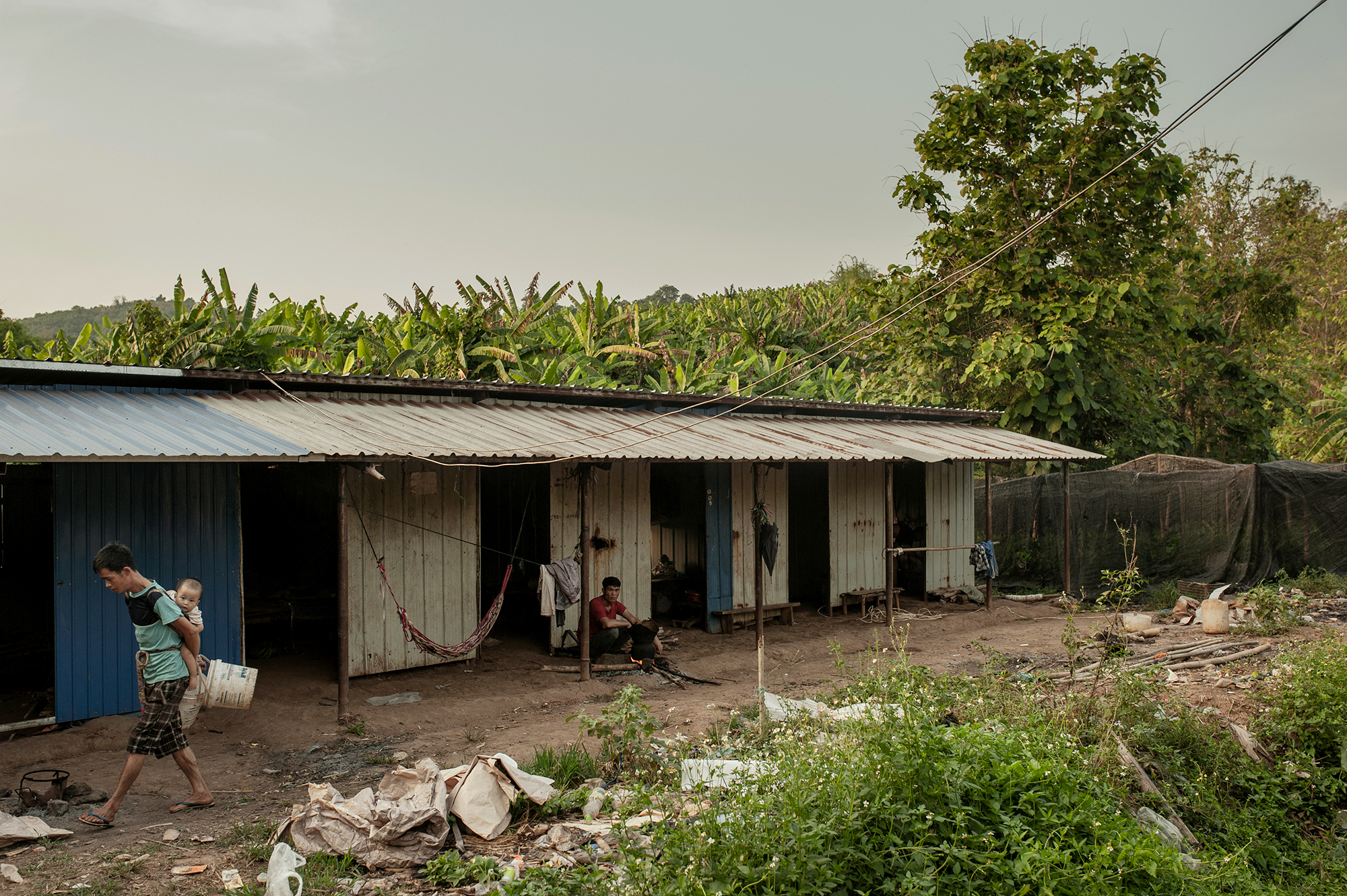 "The workers' living quarters, known locally as ""camp"" (Image: Visarut Sankham/China Dialogue)"