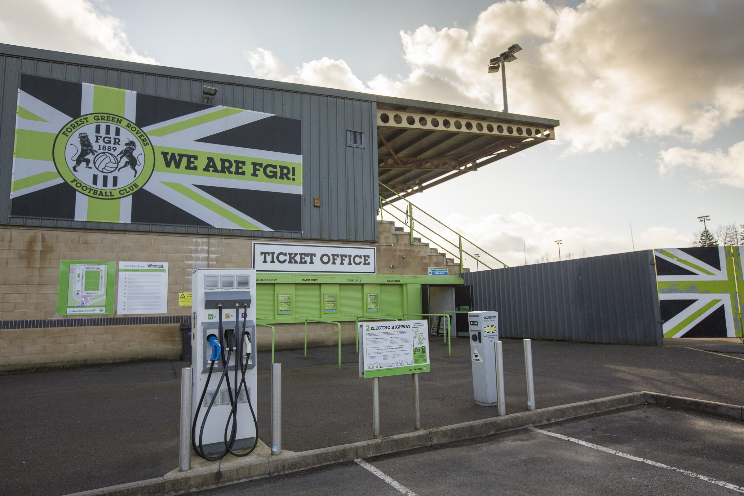 Electric vehicle charging points, Forest Green stadium