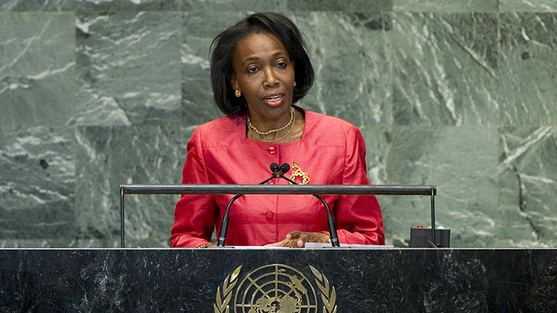 Dessima Williams, Permanent Representative of Grenada to the UN (Pic: UN Photos)